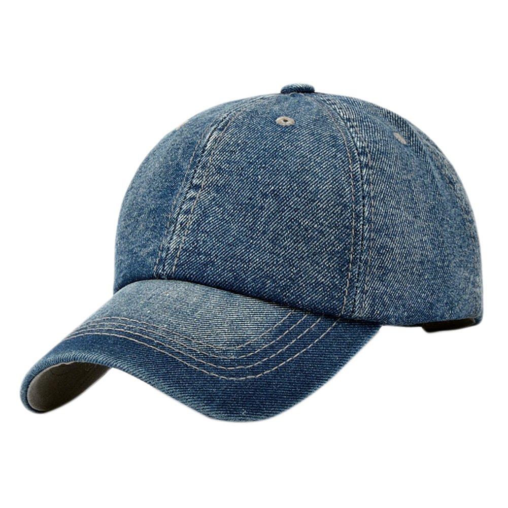 e24edd3cf8c23 Leisial Ocio Gorra de Béisbol de Vaquero Color Sólido Ajustable del Sombrero  al Aire Libre Hats