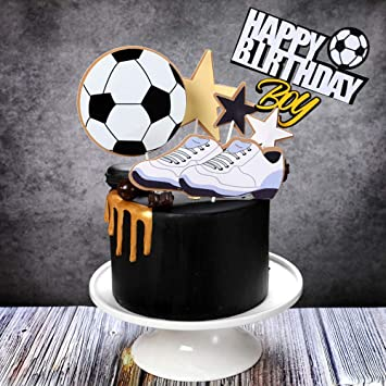 Cool Jevenis Football Cake Topper Football Birthday Cake Decoration For Personalised Birthday Cards Paralily Jamesorg