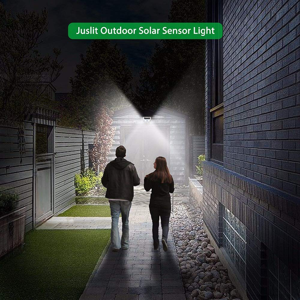 SODIAL Applique Da Parete un Luce Solare con Sensore di Movimento Lampada Da Parete un LED Per Esterno Impermeabile COB 10W