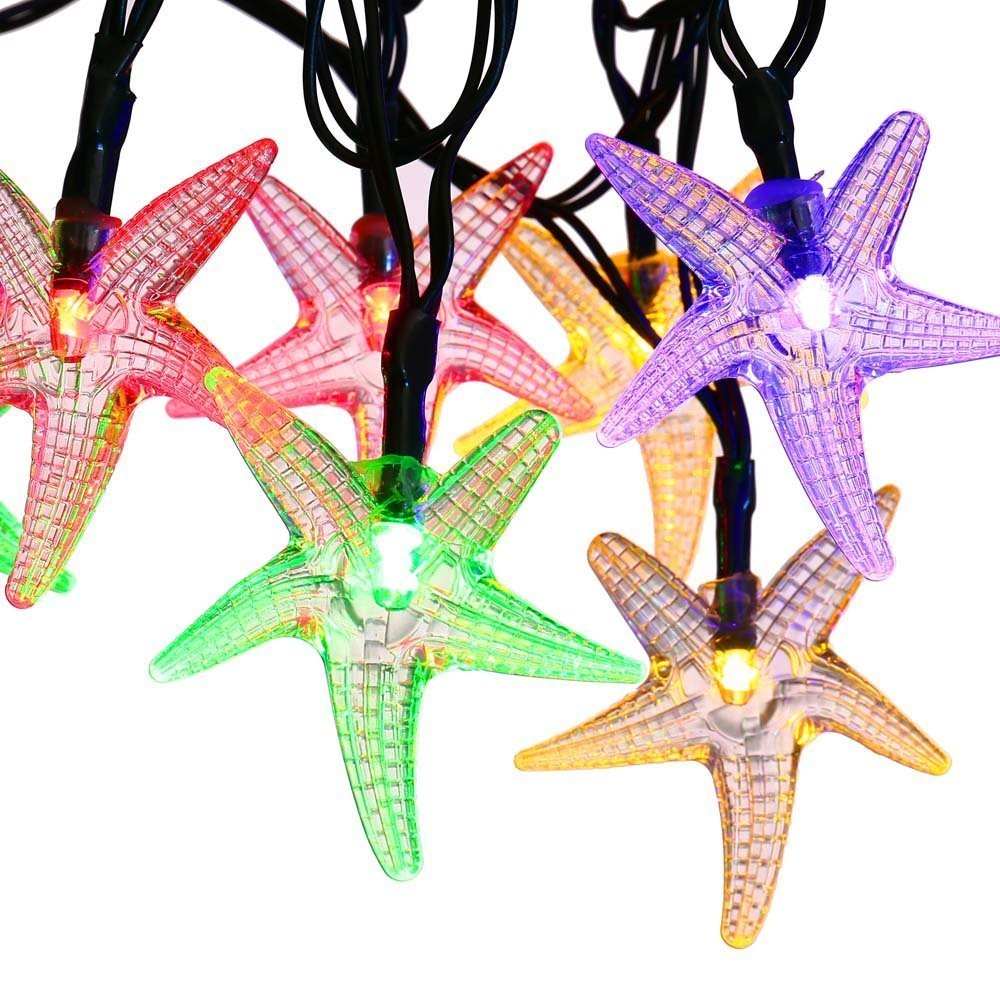 Icicle Starfish Solar String Lights 20Ft 30 Led Fairy Decorative Lighting For.. 14