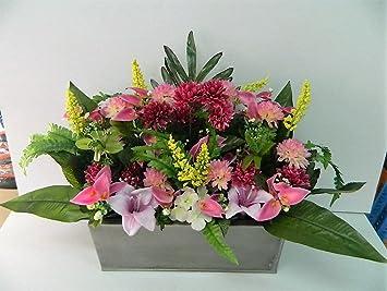 composition florale artificielle funéraire cimetière