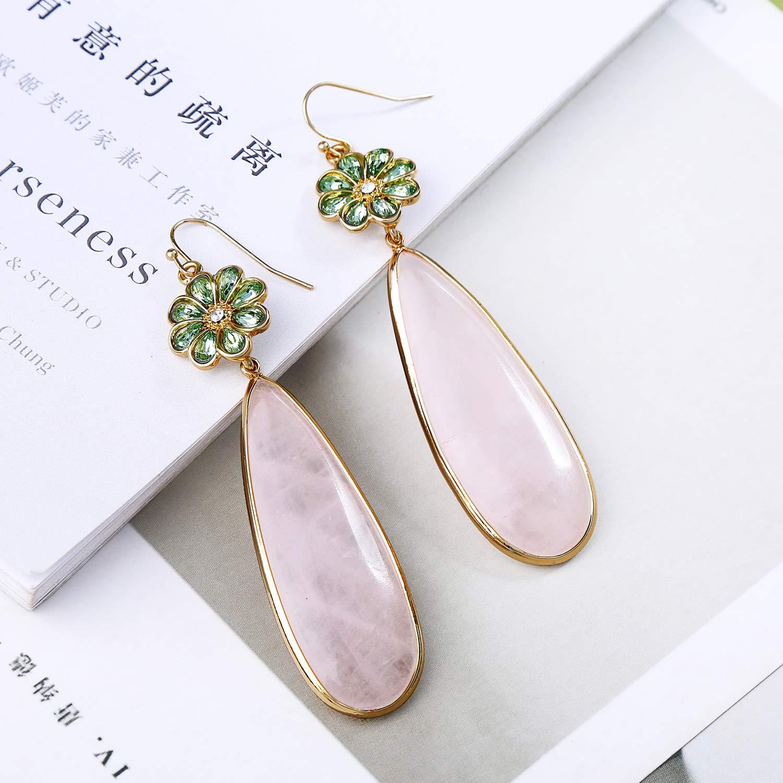 Miss Kiss Teardrop Earrings Statement Flower Drop Earrings Fashion Jewelry Gifts