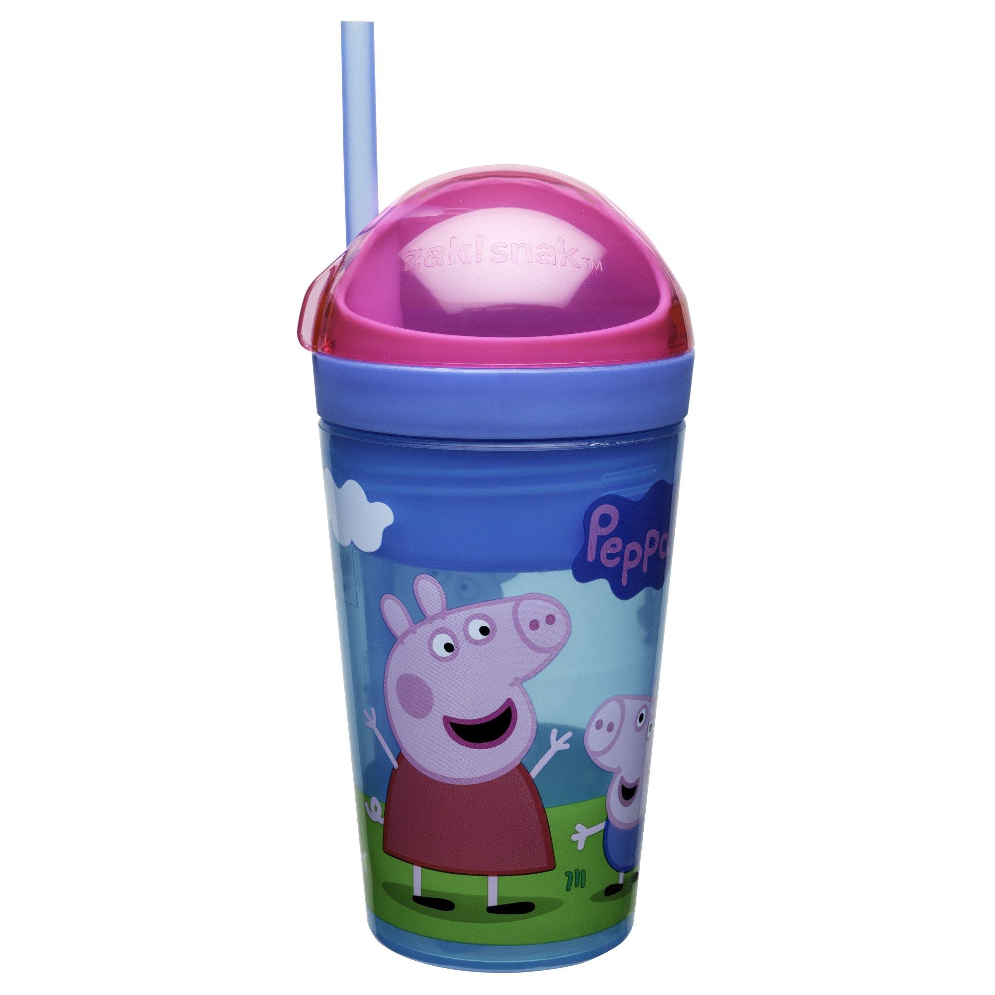 Zak Designs Peppa Pig ZakSnak All-In-One Drink
