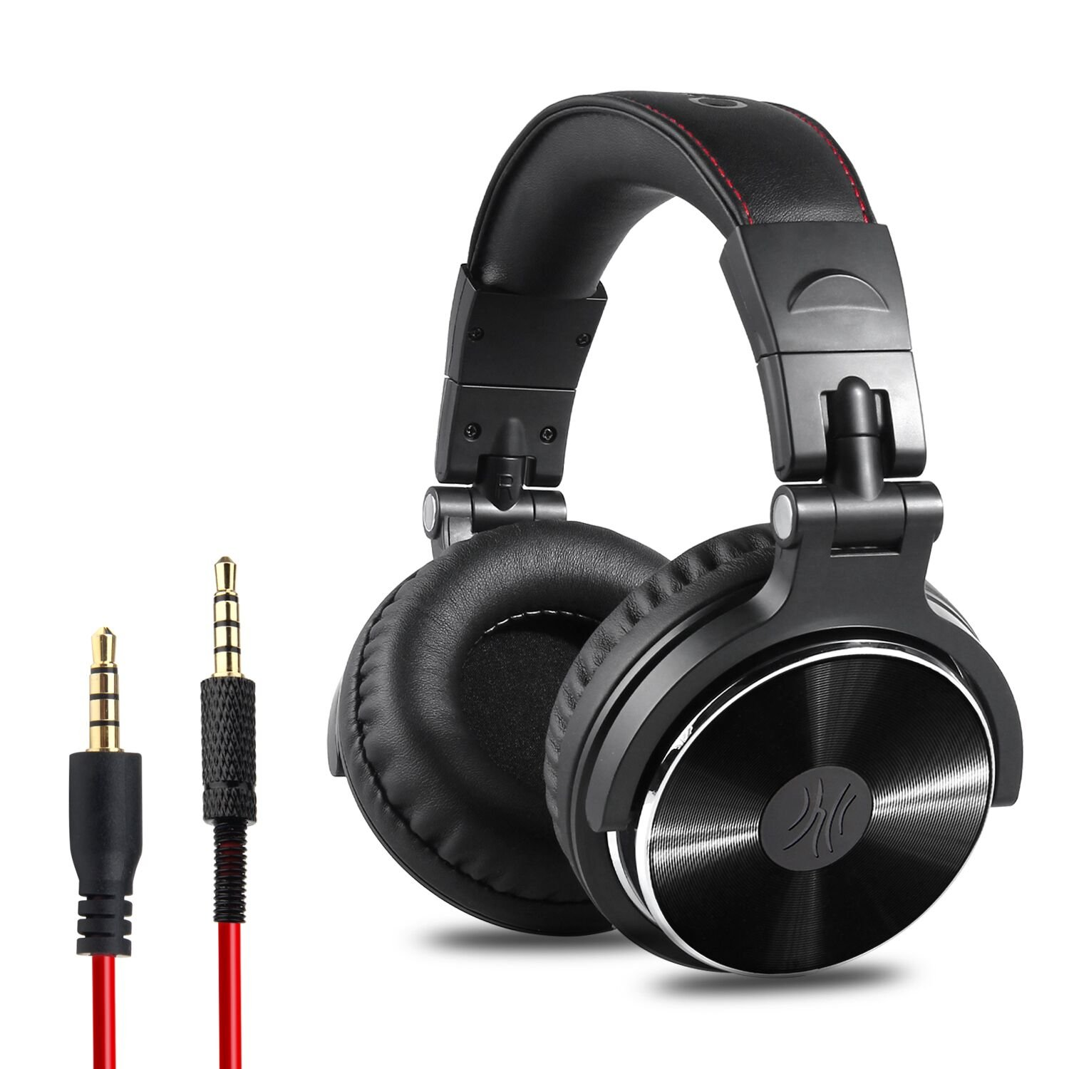 OneOdio Adapter-Free Closed Back Over-Ear DJ Stereo Monitor Headphones, Professional Studio Monitor & Mixing, Telescopic Arms with Scale, Newest 50mm Neodymium Drivers - Black by OneOdio