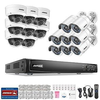 [POE 2.0MP] ANNKE Kit de seguridad 16 cámaras de vigilancia(Onvif H