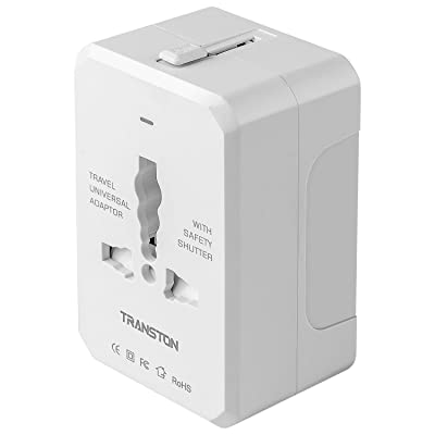 Travel Adapter, Worldwide All in One Universal Travel Plug Adapter AC Power Plug International Wall Charger for USA EU UK AUS Cell Phone Laptop, White: Home Improvement