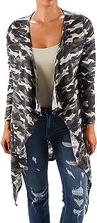 product image for Funfash Plus Size Women Camo Black Kimono Braided Duster Cardigan Long Sweater
