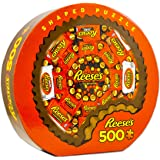 MasterPieces Shaped 500 Puzzles Collection - Shaped Reeses (Round) 500 Piece Jigsaw Puzzle