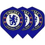 Art Attack Chelsea Dart Flights Soccer Football Premier League 75 Micron Strong (3 Sets)
