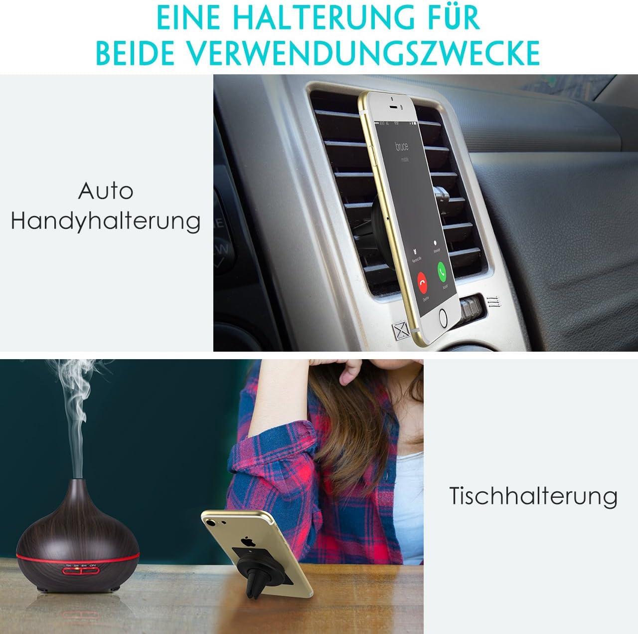 Mpow magnetische KFZ HandyHalter f/ürs Auto Luft/öffnung f/ür f/ür alle Smartphones welches Gewicht weniger als 300g oder GPS-Ger/äte,2 St/ück Kohlefaser Autohalter