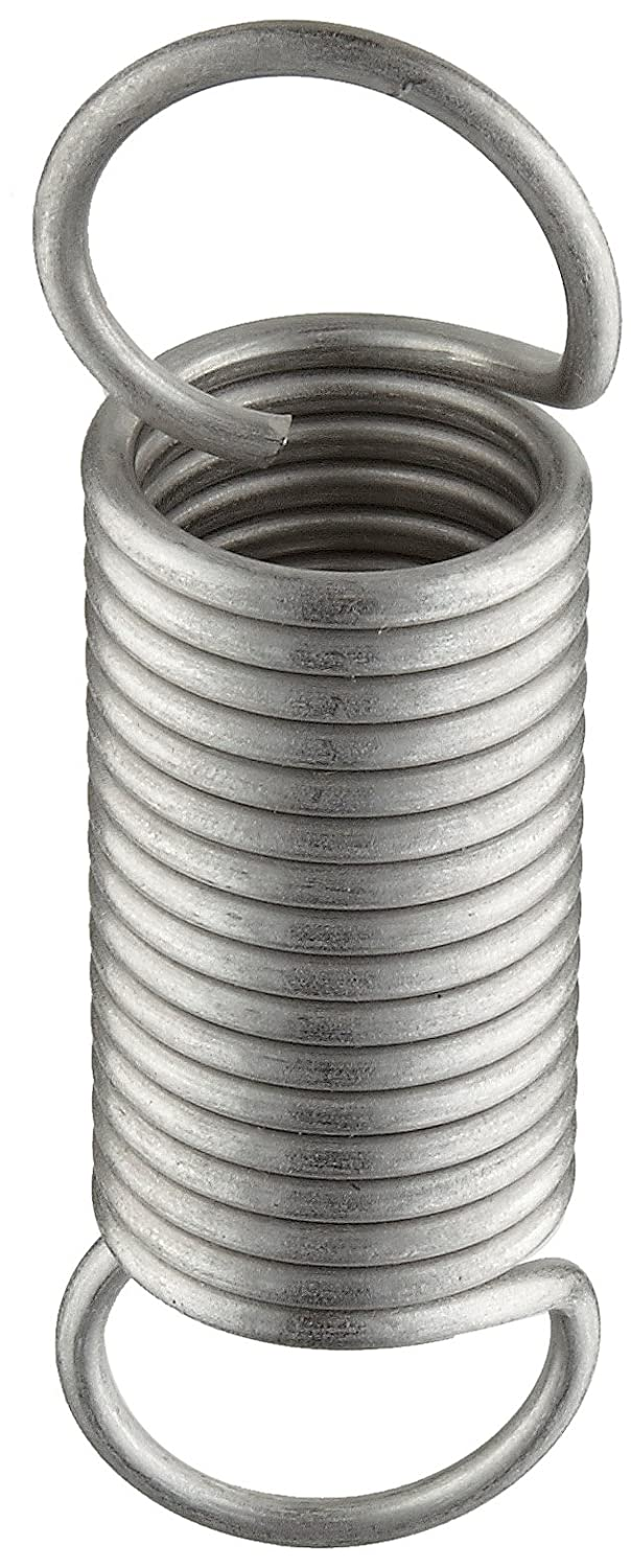 302 Stainless Steel 6 Free Length 57.16 lbs Load Capacity 0.135 Wire Size Extension Spring Inch 10.98 Extended Length 10.41 lbs//in Spring Rate 1.25 OD 0.135 Wire Size 6 Free Length 10.98 Extended Length E12501356000S Pack of 10 1.25 OD