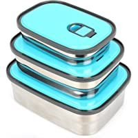Stainless Steel Lunch Containers - Tiffin Lunch Box - 3 in 1 Leak Proof Sandwich Container