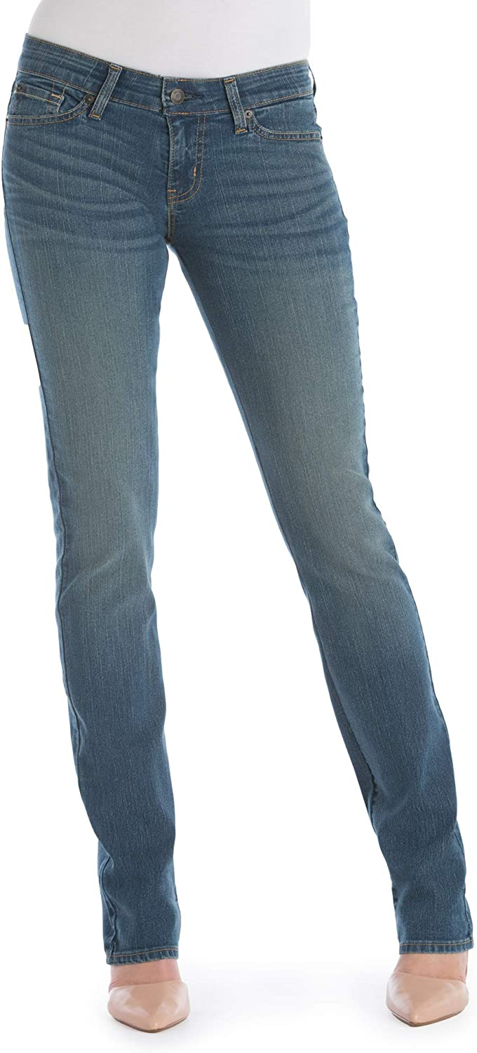Signature by Levi Strauss & Co. Women's Modern Straight Leg Jeans with Premium Denim (Meadow Medium Wash, 20M, W35 x L32)
