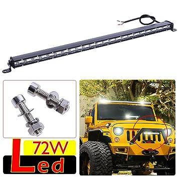 Unterbrechen 72 W LED Lichtleiste Jeep vorne Bar: Amazon.de ...