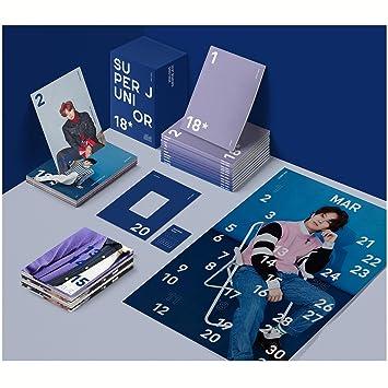 Amazon super junior 2018 seasons greetings set monthly super junior 2018 seasons greetings set monthly planner 12ea monthly bromide 12ea photo card 12ea kpop m4hsunfo