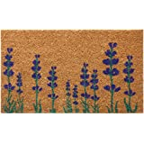 "Rubber-Cal 10-102-019"" Purple English Lavender Flower Doormat, 18 X 30"