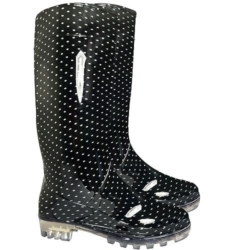 Las señoras para mujer Botas de agua nieve Festival de la Lluvia Wellington Botas Tamaño EU
