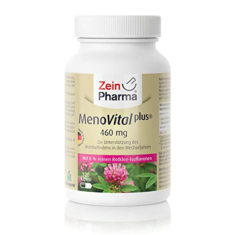 MenoVital® Plus Zinc & Vitamina C Cápsulas de Trébol Rojo, Productor Alemán ZeinPharma®