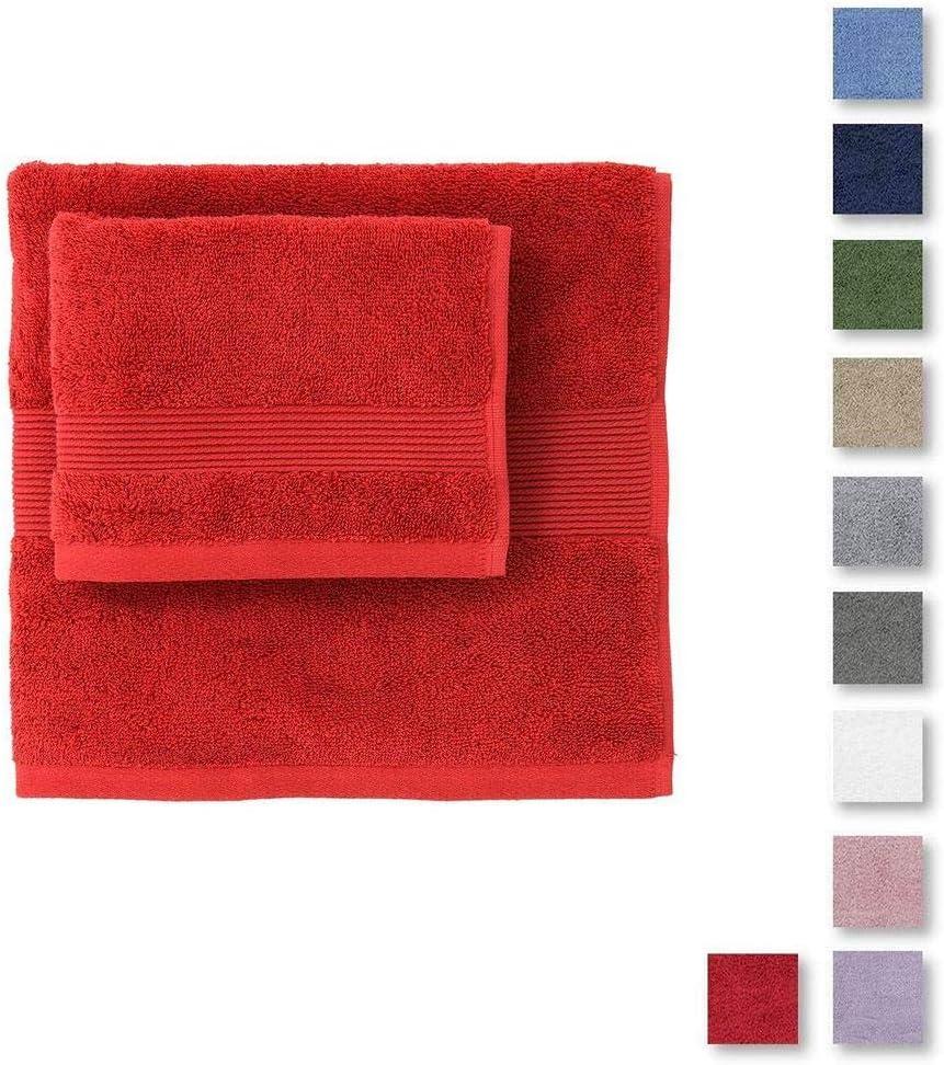 60 x 110+40 x 60 cm Zucchi Solo Tuo Set Asciugamano Agrume