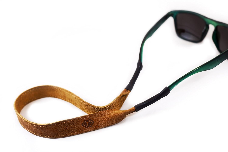 True Brown Leather Eye wear Retainer / Sunglass Retainer 720260552933