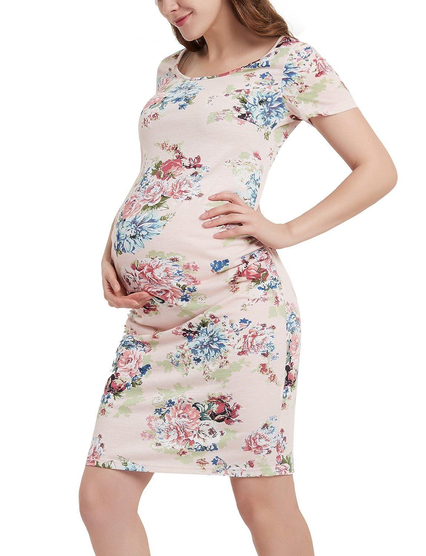 GINKANA DRESS レディース B07BRVG131 Medium Pink With Multi Flower Pink With Multi Flower Medium