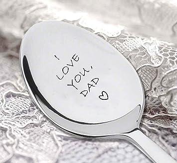 I Love You Dad grabado cuchara, Dads hielo crema cuchara, mejor venta, regalos