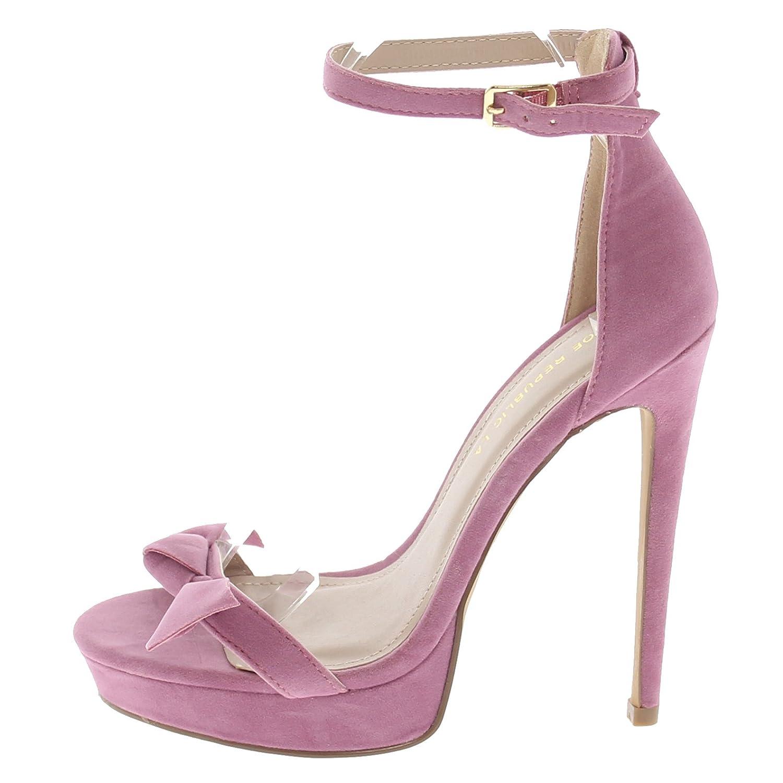 Shoe Republic Open Toe Platform Sandal w/ Ankle Strap Angelica B076L7VK98 5.5 B(M) US|Mauve