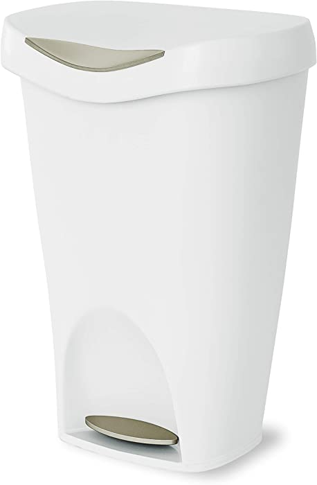 Umbra Brim Waste Can, White