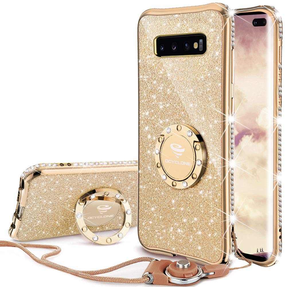 Funda Samsung S10 Plus Glitter Con Pie Ocyclone (7pcndj8c)