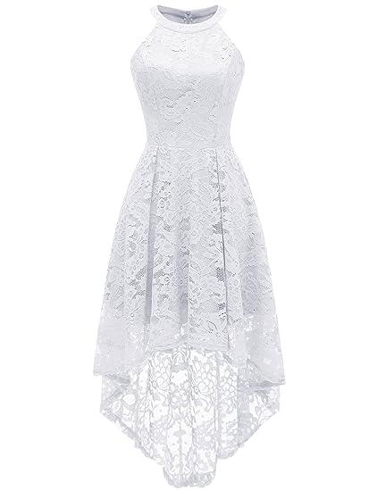 f20736a23ad Dressystar Robe de Soirée Gala Femme Robe des Fêtes Party Homecoming  DS0028White XS