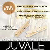 Juvale 100 Pack - Wooden Clothespins - Large