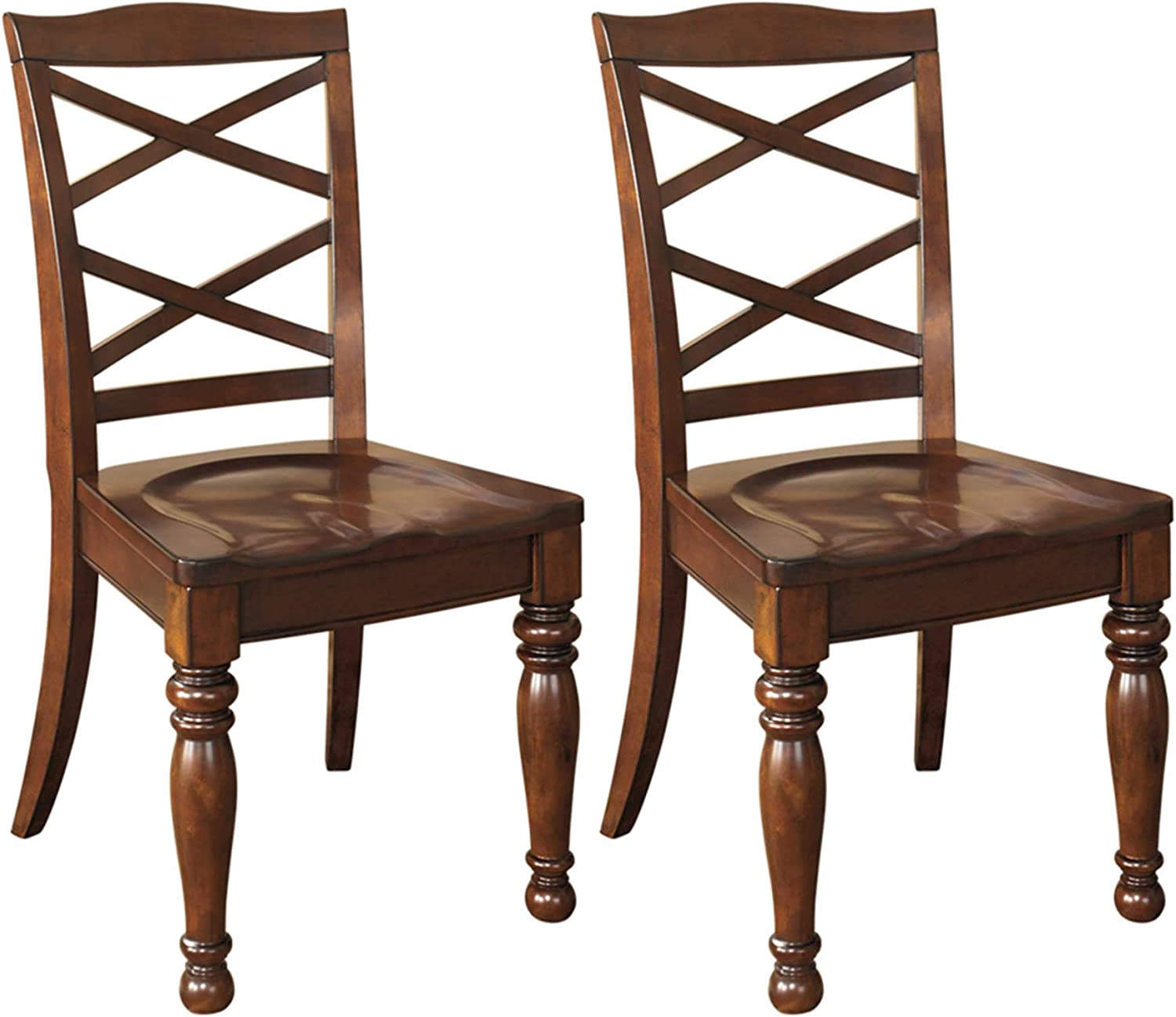 Signature Design by Ashley D697-01 Porter Dining Chair, Rustic Brown