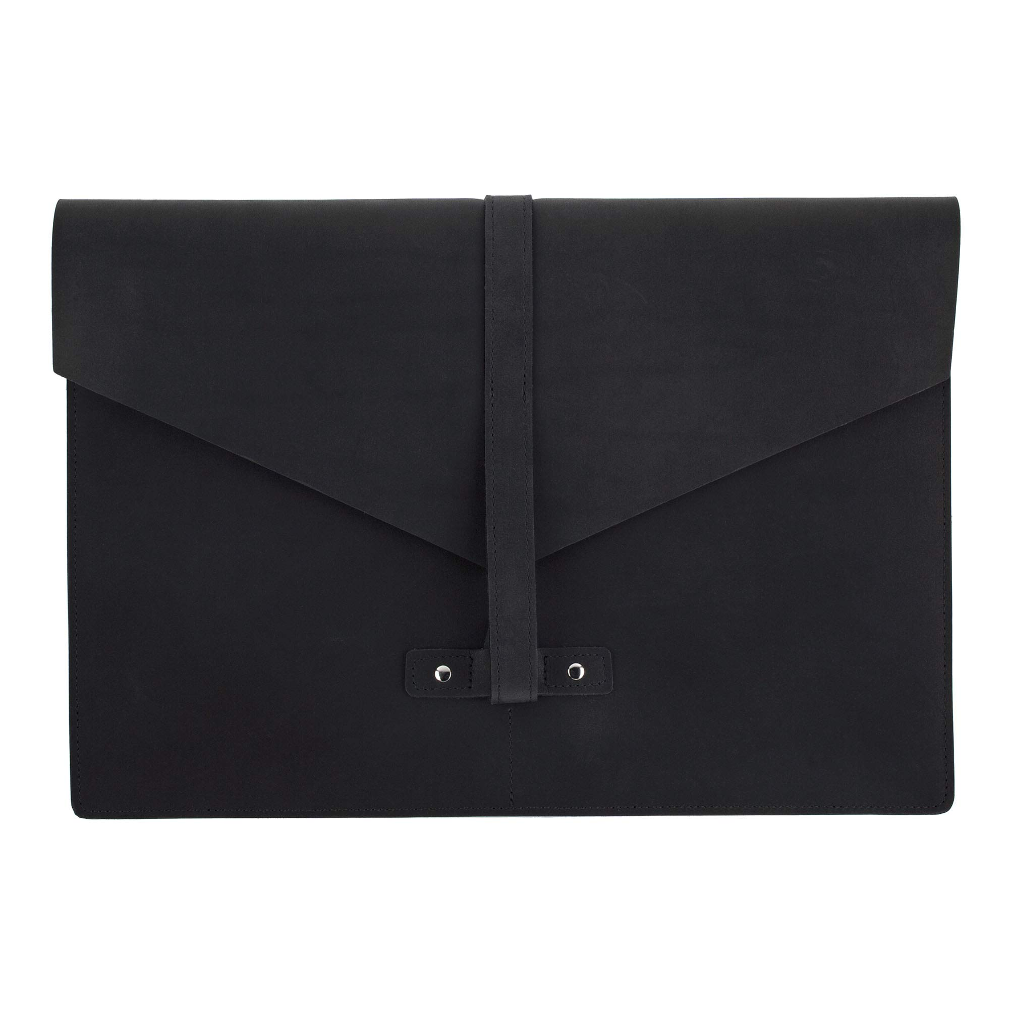 SLATE COLLECTION Belltown Small Laptop Sleeve, Full-Grain Leather (Midnight, fits 13'' Laptop) by SLATE COLLECTION (Image #3)
