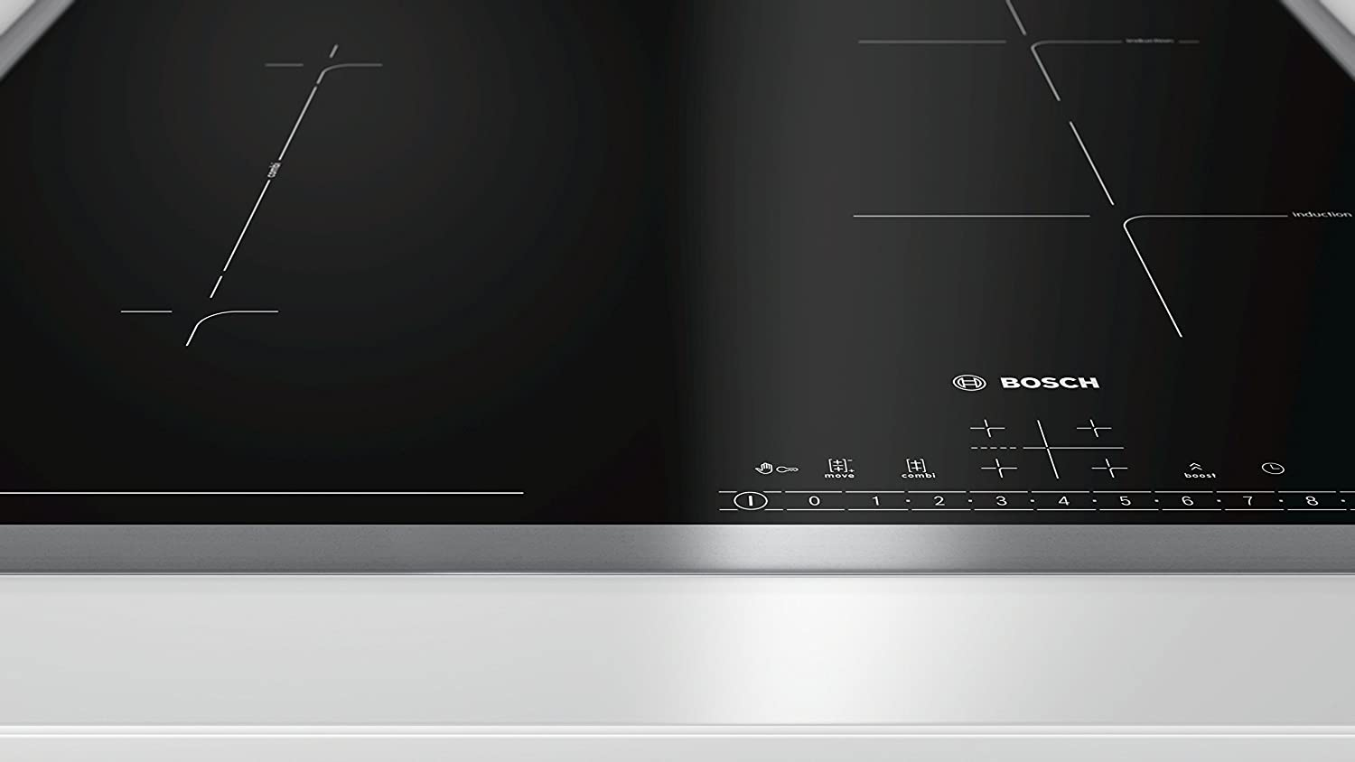 Bosch PVS645FB1E hobs Negro, Acero inoxidable Integrado Con ...