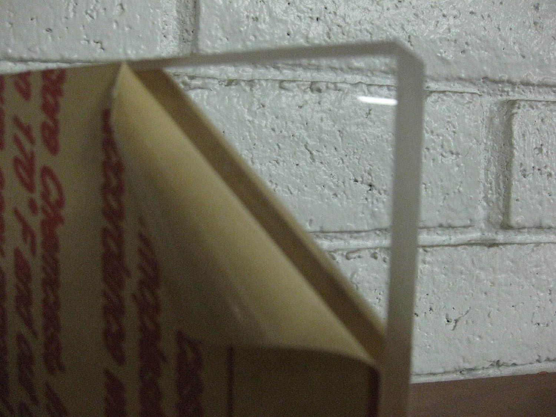 "CNC PRECISION CUT CELL CAST PLEXIGLASS //ACRYLIC SHEET CLEAR 3//8/"" x 3/"" x 5/"""