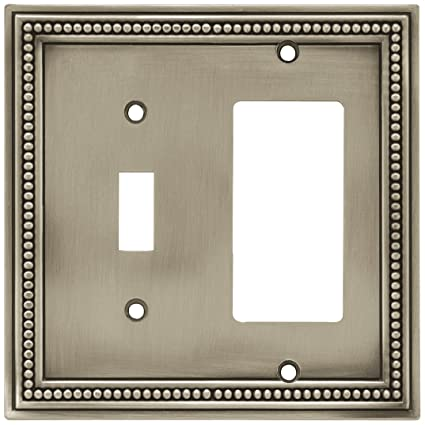 Brainerd 64740 Beaded Single Toggle Switchdecorator Wall Plate