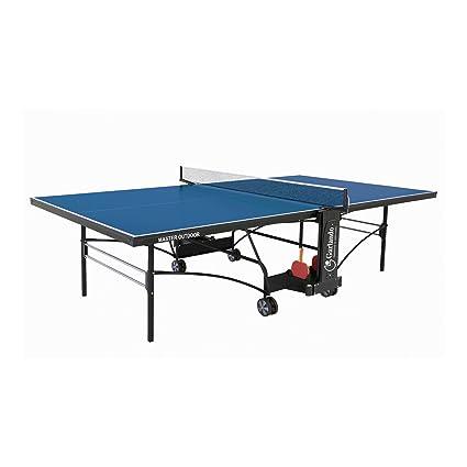 Garlando Mesa Ping Pong Master Outdoor con Ruote per Esterno Azul ...