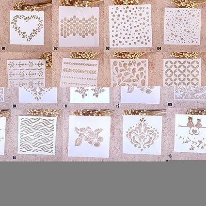 ZHUOTOP - stencil elegante per stampe, disegno, pittura, aerografo,  scrapbooking, album, decorazioni fai-da-te, 01, 01#