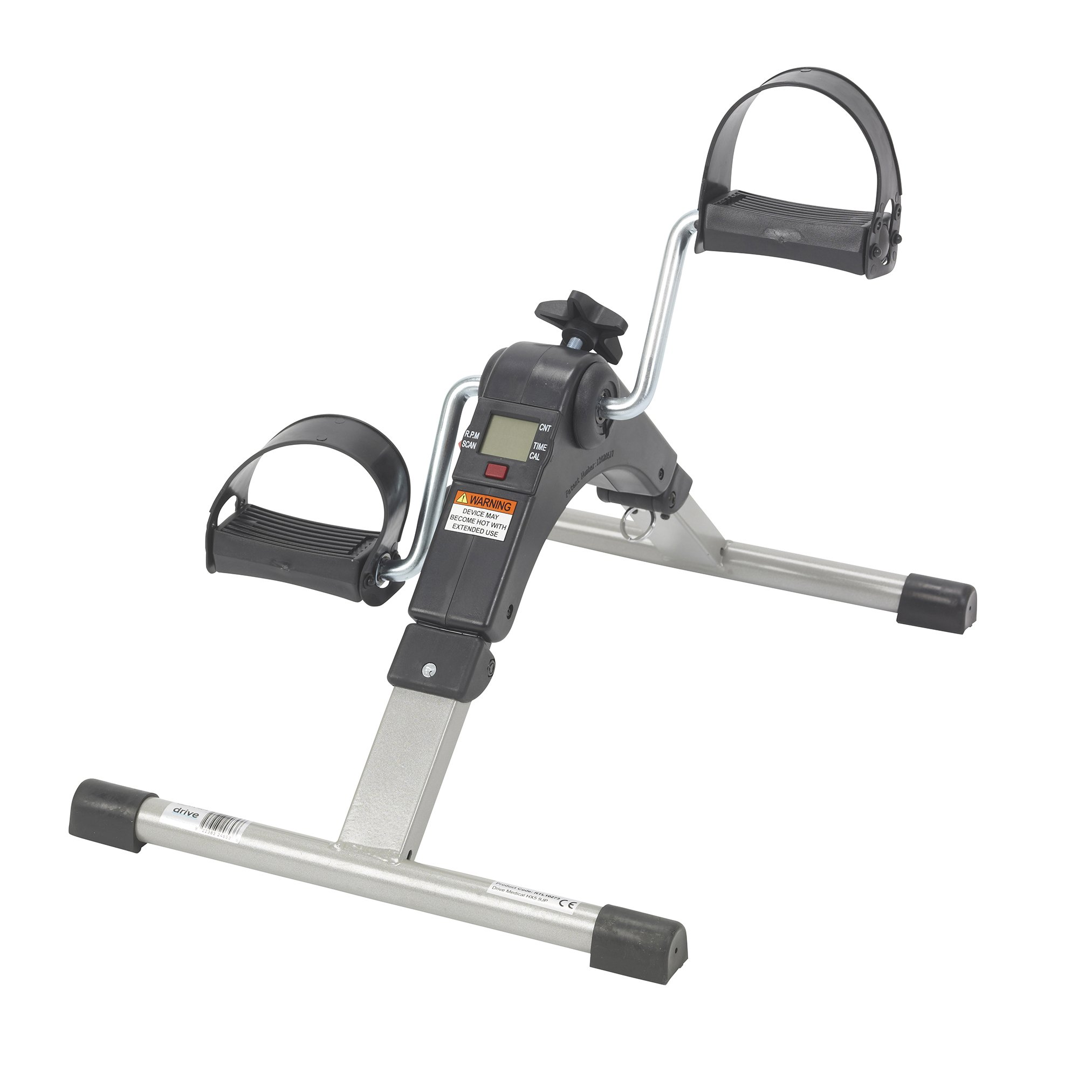 Drive Medical Deluxe Folding Exercise Peddler with Electronic Display , Black Model # RTL10273 by Drive Medical (Image #2)