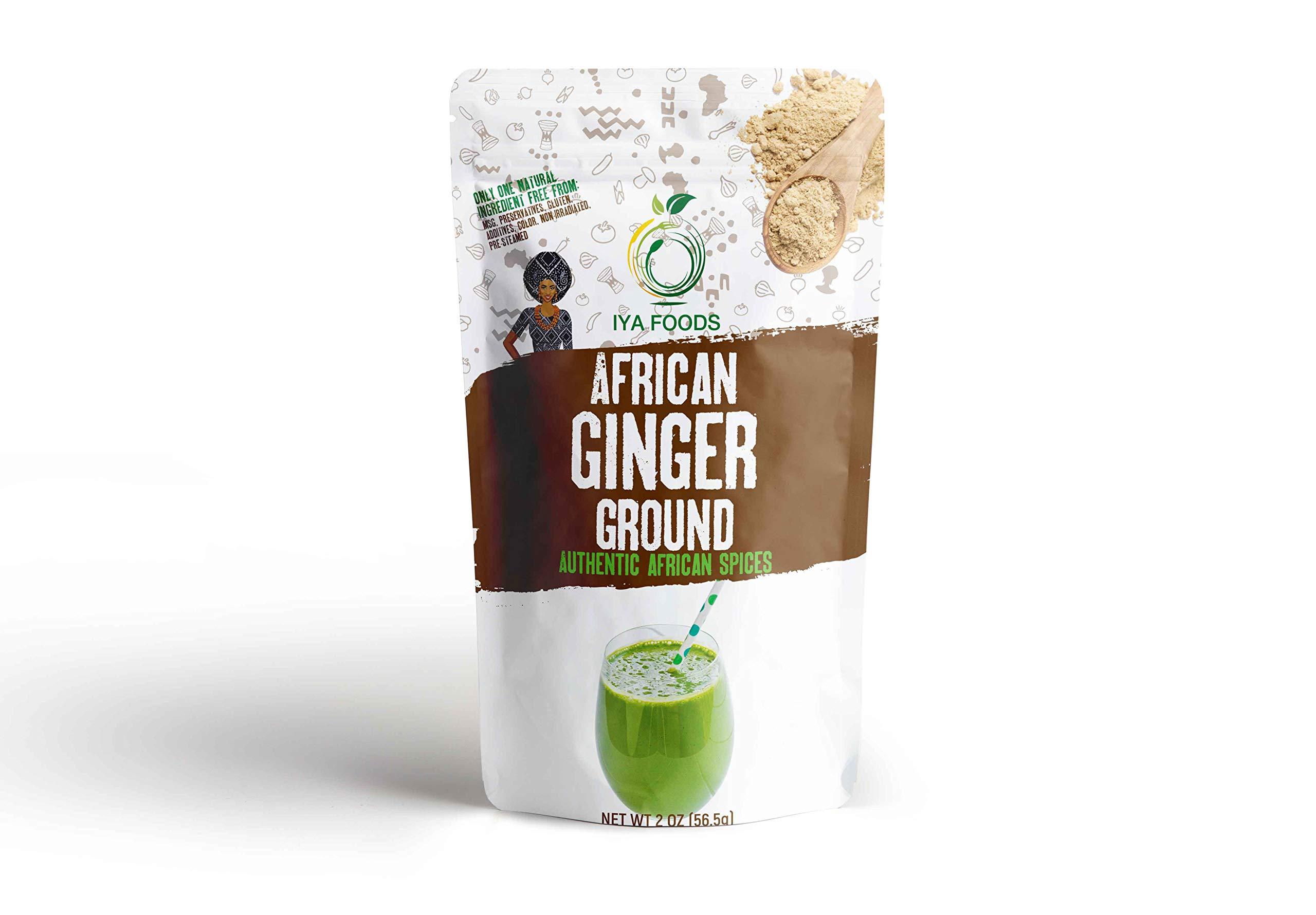 Iya Foods Ginger Ground 2 ounces, Kosher Certified, No Preservatives, No Added Color, No Additives, No MSG