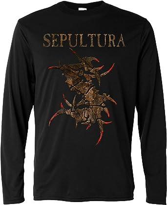 LaMAGLIERIA Camiseta de Manga Larga Hombre - Sepultura - Monster Texture - Long Sleeve 100% Algodon: Amazon.es: Ropa y accesorios