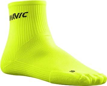 Mavic Cosmic Mid – Calcetines de Ciclismo Amarillo 2018, continuidad, Color Safety Yellow,