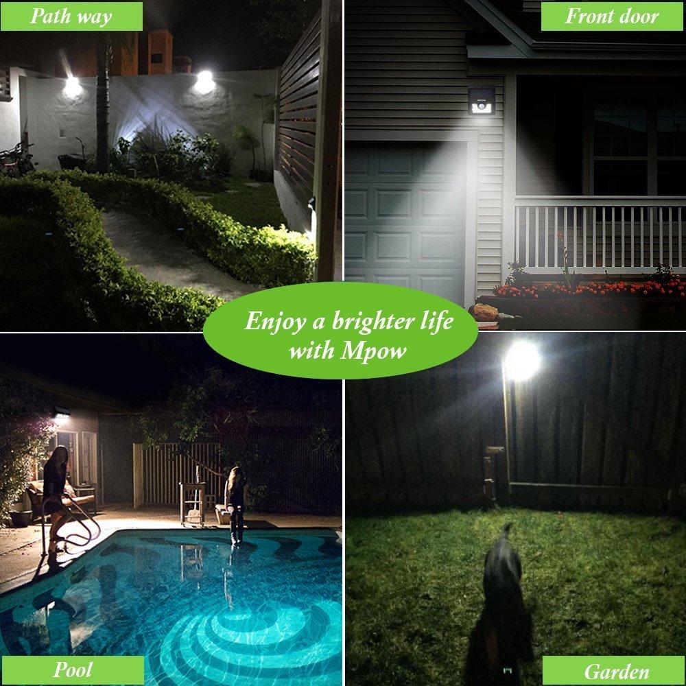 mpow solar lights solar energy lights outdoor lights waterproof