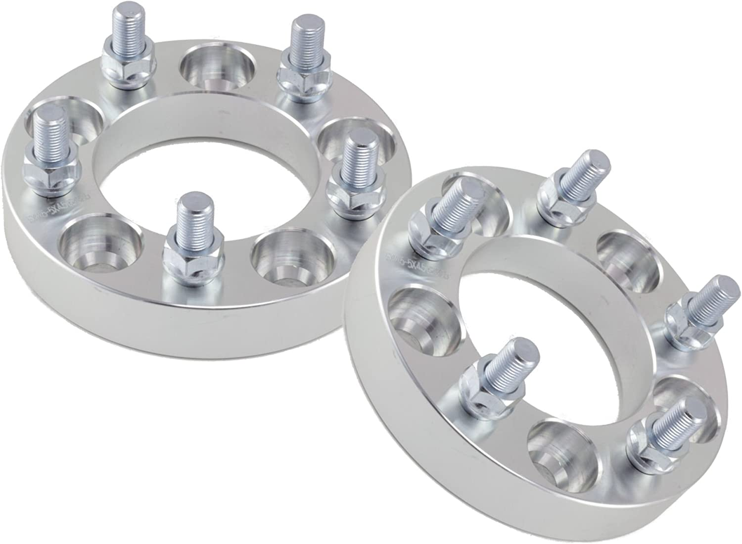 """(2) 1"""" (25mm)   5x114.3 (5x4.5) to 5x100 Wheel Adapters/Spacers   12x1.5 Studs   1.0 inch Thick"""