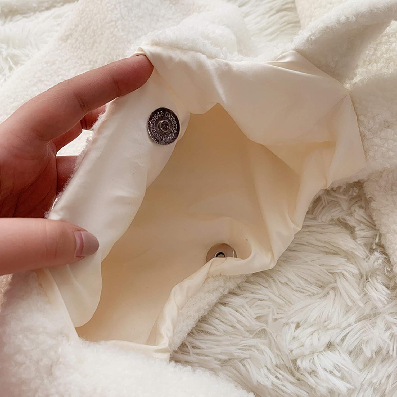 Soft and Cute ! YuDanae Cotton Plush Shopping Hand Bags /& Zipper Purse Handbag /& Plush Slippers