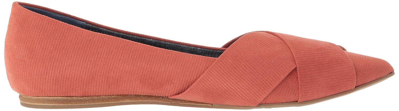 Dr. Scholl's Women's Loma M Ballet Flat B07BGKM866 6.5 M Loma US|Hotsauce Orange Linear Emboss Fabric 56e35e