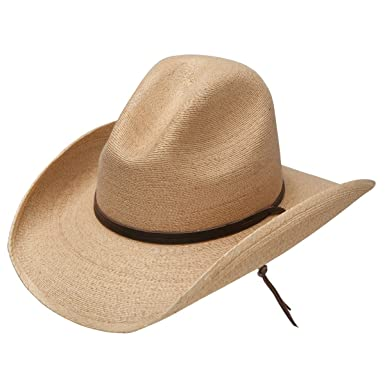 046b3f38dc4ff Stetson Bryce - Mexican Palm Straw Cowboy Hat at Amazon Men s Clothing  store
