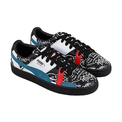 b089944d7b17 PUMA X Shantell Martin Basket Graphic Mens Black Leather Sneakers Shoes 4.5