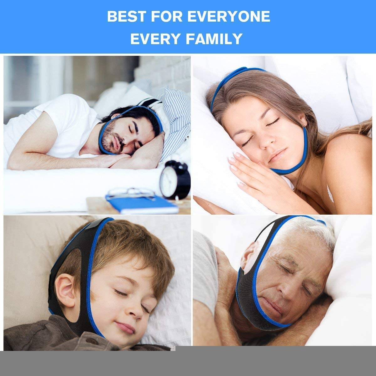 Strap to Stop Snoring, Anti-snoring Unisex Jaw Belt, Get Restful Sleep and Wake Up Energized. Adjustable Chin Strap.: Kitchen & Dining