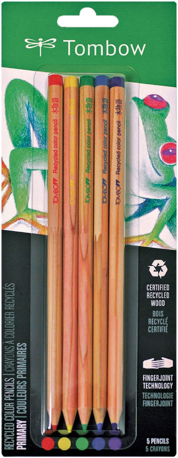 Artist Recycled Cedar Tombow 61550 Recycled Colored Pencils Natural Wood